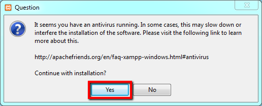 xampp antivirus warning 001