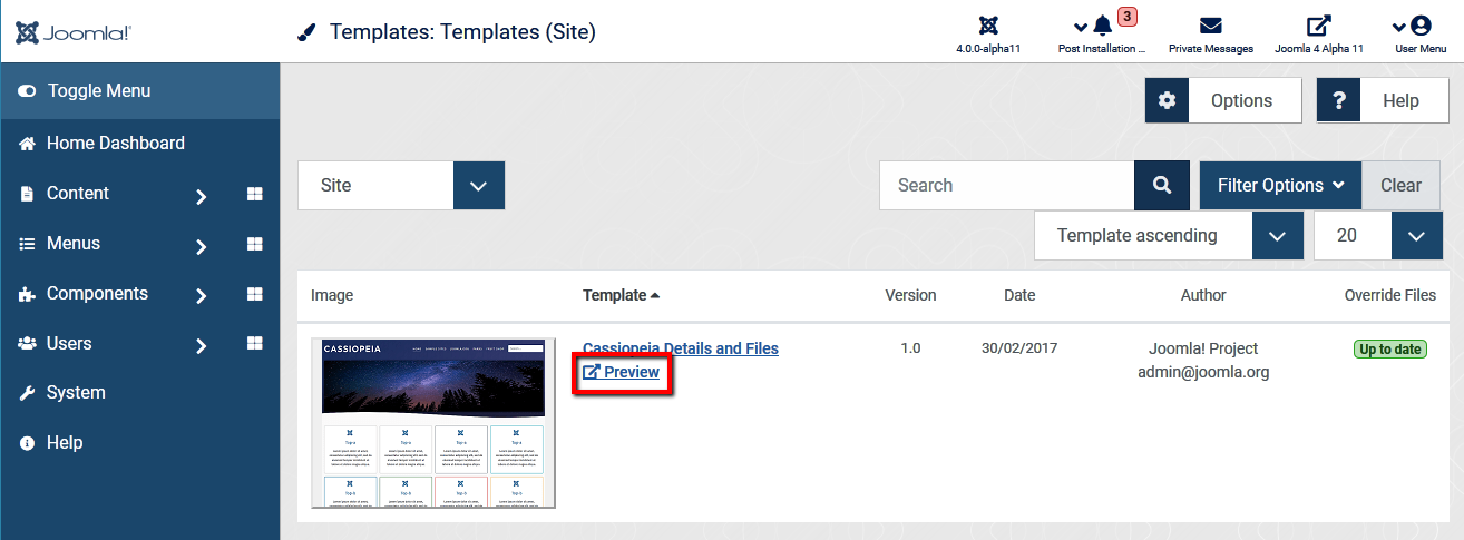 Joomla4 preview module positions preview