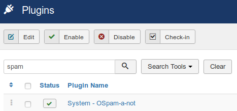 Joomlashack OSpam a not plugin