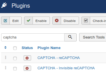 Twee captcha plugins