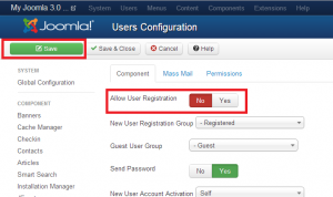 allow user registraton no